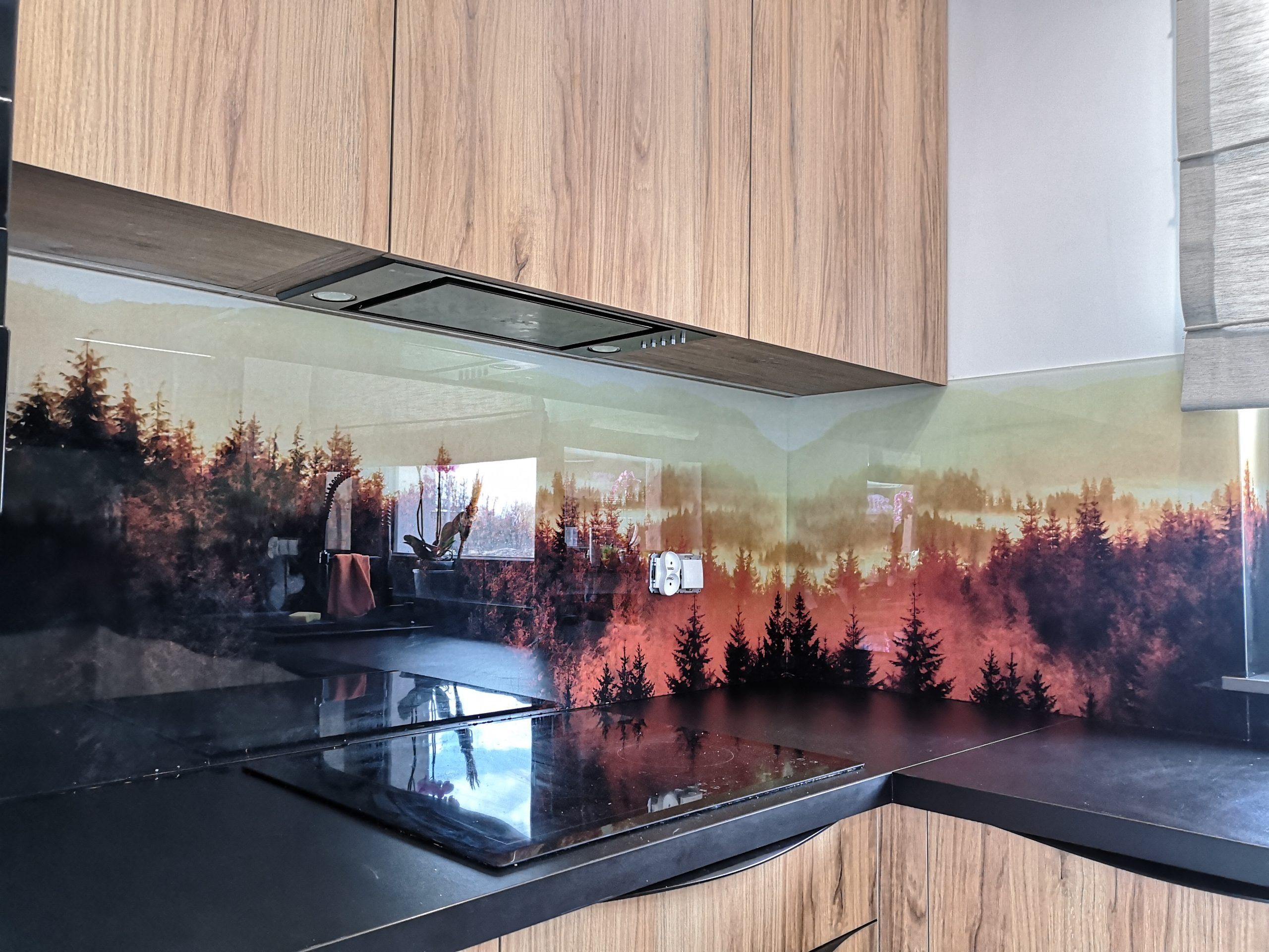 Panele szklane z grafiką do kuchni